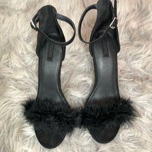 Forever 21 black fury heel  women's size 8.5